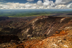 Ideia excitante da paisagem da península de Kamchatka foto de stock