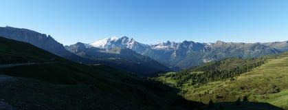 Ideia excitante do panorama alpino no tyorl sul Imagens de Stock