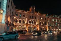 Ideia exterior da estação histórica de Rossio imagens de stock royalty free