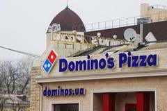 Ideia externo do façade da pizza do dominó fotos de stock royalty free