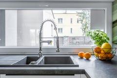 Ideia funcional da banca da cozinha Imagens de Stock Royalty Free