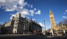 Ideia geral do quadrado do parlamento de Westminster Fotografia de Stock Royalty Free