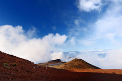 Ideia impressionante da paisagem da área vista da cimeira, Maui do vulcão de Haleakala, Havaí Imagem de Stock Royalty Free