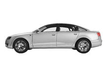 Ideia lateral da imagem 3D do automóvel de prata fotografia de stock royalty free