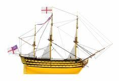 Ideia lateral da vitória do HMS isolada no fundo branco ilustração stock