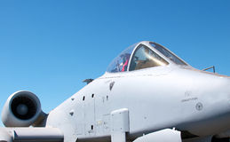 Ideia lateral de um Thunderbolt de A10 Warthog Imagem de Stock Royalty Free