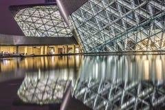 Ideia local da noite da arquitetura moderna Fotos de Stock Royalty Free