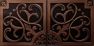 A ideia luxuosa surpreendente do teto textured do marrom detalhado, escuro telha o fundo imagem de stock royalty free