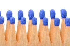 Ideia macro dos fósforos isolados Foto de Stock