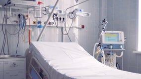 Ideia mais próxima de uma parte de uma divisão de hospital onde a cama e o outro equipamento sejam encontrados vídeos de arquivo