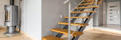 Ideia moderna das escadas fotografia de stock