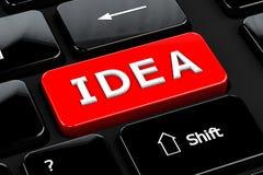 Ideia no fundo do teclado de computador Fotografia de Stock