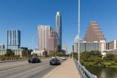 Ideia o da skyline do centro em Austin Texas foto de stock royalty free