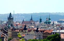 Ideia panorâmico do centro de Praga Fotografia de Stock Royalty Free