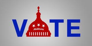 Ideia para a eleição do prazo médio de 2018 E.U. - republicano da ilustração do voto ilustração do vetor