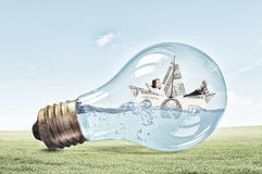 Ideia para a solução anticrisis Imagens de Stock