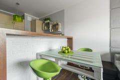 Ideia para um espaço para refeições pequeno Fotografia de Stock Royalty Free