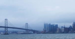 """Ideia ponte 4K da baía Oakland do †de San Francisco de """" vídeos de arquivo"""