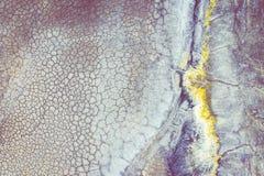 Ideia a?rea do lugar industrial surrealista Superf?cie seca Paisagem de Desertic Impacto humano no ambiente Vista de acima imagens de stock
