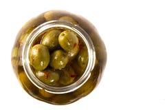 Ideia superior de azeitonas picantes Imagens de Stock
