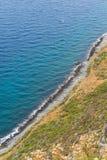 Ideia superior de um litoral Fotos de Stock