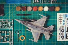 Ideia superior de um modelo plástico Fotos de Stock Royalty Free