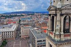 Ideia superior do centro da cidade de Budapest Fotografia de Stock