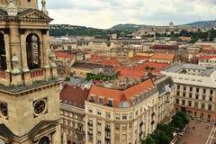 Ideia superior do centro histórico de Budapest Imagem de Stock