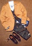 A ideia superior do ` clássico s dos homens veste-se com acessórios Imagens de Stock