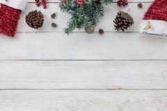 Ideia superior do conceito 2018 do fundo do ano novo feliz da decoração Fotografia de Stock