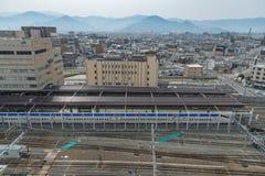 Ideia superior do estação de caminhos-de-ferro de Nagano Imagens de Stock