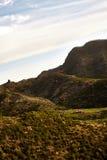 Ideia surpreendente de picos de montanha com as nuvens bonitas no por do sol Lugar: Tenerife, Ilhas Canárias, Espanha artístico Fotografia de Stock Royalty Free