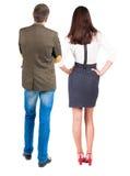 Ideia traseira de pares novos Foto de Stock Royalty Free