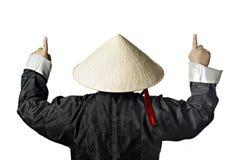 Ideia traseira do Vietnamese fotografia de stock