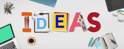 Ideias Art Design Word Concept criativo imagem de stock