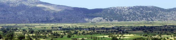 Ideias bonitas do platô de Lassithi, Creta Fotos de Stock Royalty Free