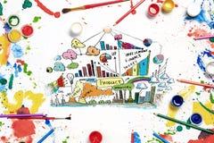 Ideias criativas para seu negócio Imagens de Stock Royalty Free