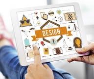 Ideias criativas Planning Sketch Concept modelo do projeto Fotografia de Stock
