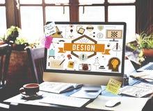 Ideias criativas Planning Sketch Concept modelo do projeto Imagens de Stock