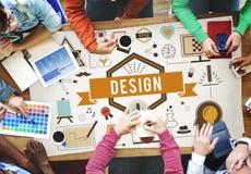 Ideias criativas Planning Sketch Concept modelo do projeto Imagens de Stock Royalty Free