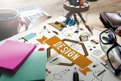 Ideias criativas Planning Sketch Concept modelo do projeto Fotos de Stock