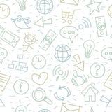 Ideias da companhia do Internet da garatuja do teste padrão Fotos de Stock Royalty Free