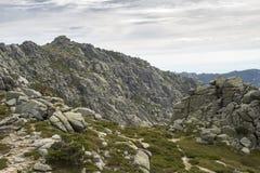 Ideias da escala dos picos de Siete Picos sete Fotos de Stock