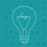 Ideias da ilustração no campo do projeto Fotos de Stock