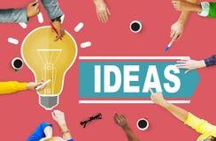 Ideias das aspirações que pensam o conceito da estratégia da visão da inovação Imagens de Stock Royalty Free