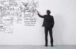 Ideias de esboço do empresário criativo Fotografia de Stock Royalty Free