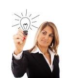 Ideias della donna di affari Fotografie Stock