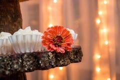 Ideias do bolo de casamento foto de stock