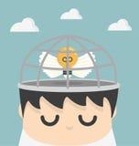 Ideias do negócio na gaiola Imagem de Stock Royalty Free
