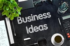 Ideias do negócio - texto no quadro preto rendição 3d ilustração stock